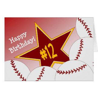 Gelukkige 12de Verjaardag, de Ster van het Kaart