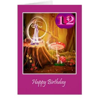 Gelukkige 12de Verjaardag voor meisje met fee Kaart
