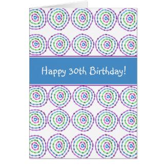 Gelukkige 30ste Verjaardag! Kaart