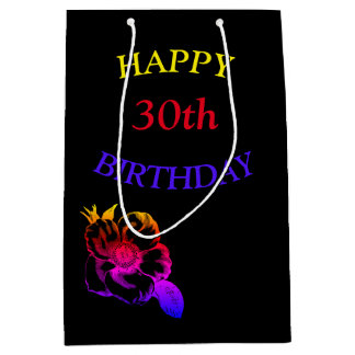 Gelukkige 30ste Verjaardag Medium Cadeauzakje