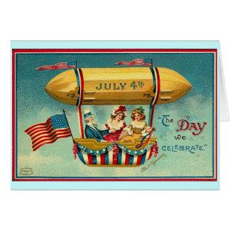 Gelukkige 4 van Juli Notitiekaart