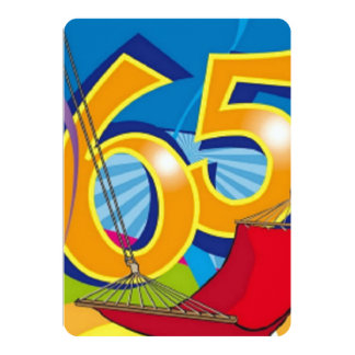 Gelukkige 65ste Verjaardag 12,7x17,8 Uitnodiging Kaart