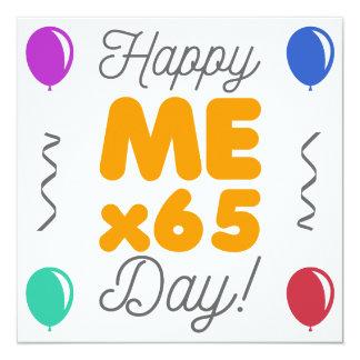 Gelukkige 65ste Verjaardag 13,3x13,3 Vierkante Uitnodiging Kaart