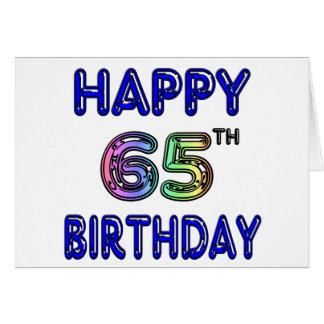 Gelukkige 65ste Verjaardag in de Doopvont van de B Kaarten