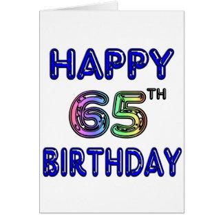 Gelukkige 65ste Verjaardag in de Doopvont van de B Wenskaart
