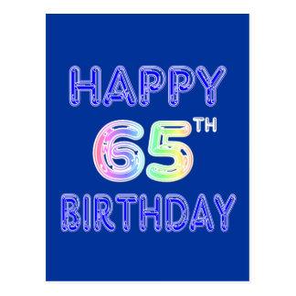 Gelukkige 65ste Verjaardag in de Doopvont van de Briefkaart