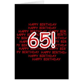 Gelukkige 65ste Verjaardag Kaarten