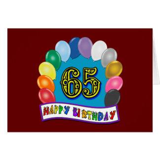 Gelukkige 65ste Verjaardag met Ballons Wenskaart