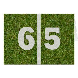 Gelukkige 65ste Verjaardag! Wenskaart