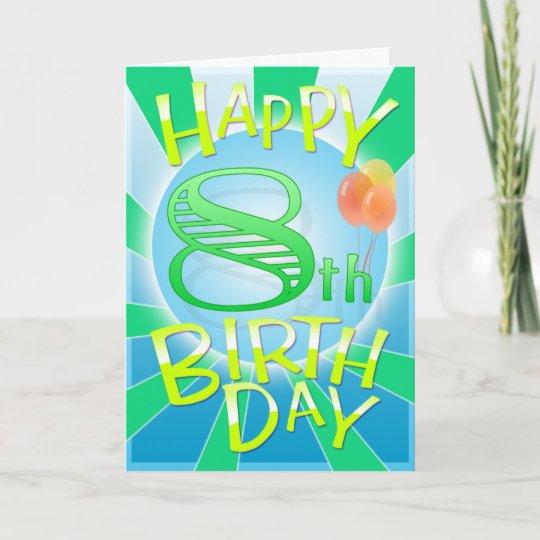 Gelukkige 8ste Verjaardag Kaart Zazzle Nl