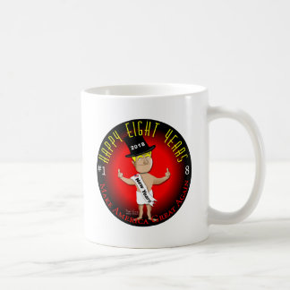 Gelukkige Acht Nieuwjaren Koffiemok