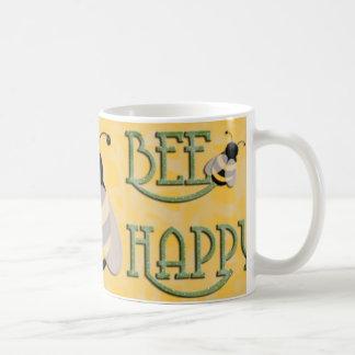 Gelukkige bij koffiemok