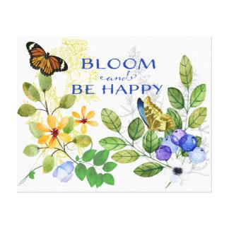 Gelukkige Bloeiende Bloemen Canvas Print
