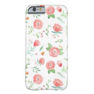 Gelukkige Bloemen van de perzik Barely There iPhone 6 Hoesje
