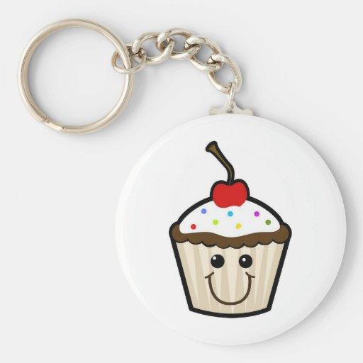 Gelukkige Cupcake Sleutelhangers
