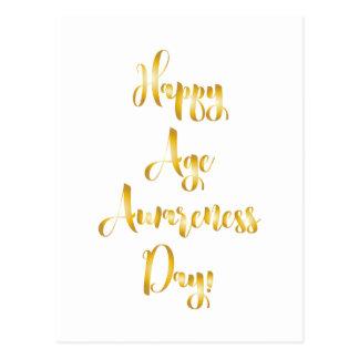 Gelukkige de dag gouden grappige verjaardag van de briefkaart