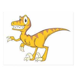 Gelukkige Dinosaurus Velociraptor Wens Kaart