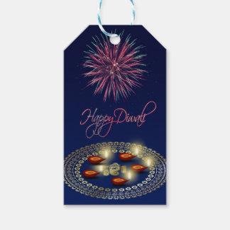 Gelukkige Diwali Ganesha Rangoli - het Label van Cadeaulabel
