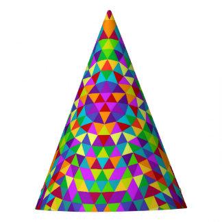 Gelukkige driehoeksmandala 2 feesthoedjes
