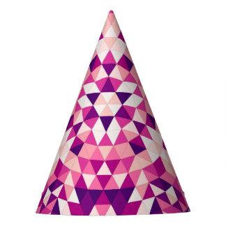 Gelukkige driehoeksmandala feesthoedjes