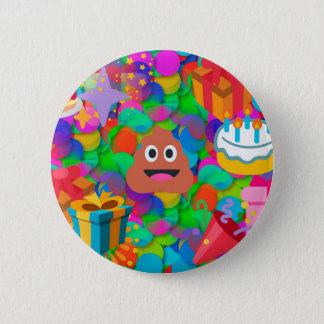 gelukkige emoji van het verjaardagsachterschip ronde button 5,7 cm