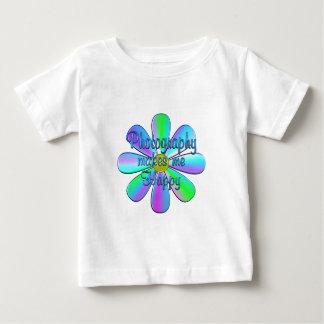 Gelukkige fotografie baby t shirts
