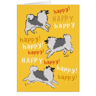Gelukkige Gelukkige Keeshond Briefkaarten 0