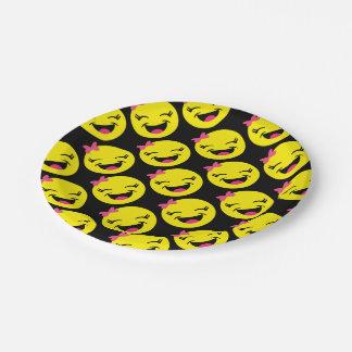 Gelukkige Girly Emoji Papieren Bordje