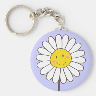 Gelukkige Glimlachende Capricieuze Daisy Keychain Sleutelhanger
