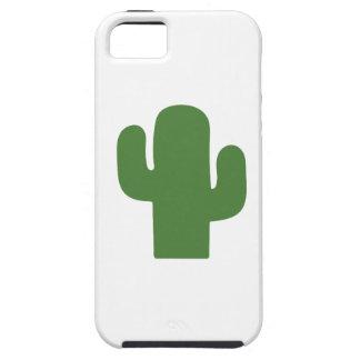 Gelukkige groene cactus in de roze zomer tough iPhone 5 hoesje