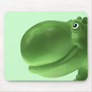 Gelukkige Groene Hippo Muismatten