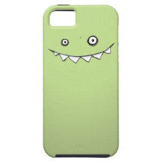 Gelukkige Groene iPhone 5 van het Monster & Taai H Tough iPhone 5 Hoesje