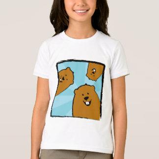 Gelukkige Groundhogs met de T-shirt van Glimlachen