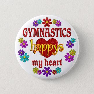 Gelukkige Gymnastiek Ronde Button 5,7 Cm