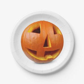 Gelukkige Halloween pompoen Papieren Bordje