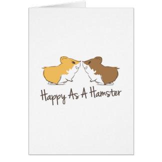 Gelukkige Hamster Kaart