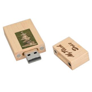 Gelukkige Harde Aandrijving Houten USB 2.0 Stick