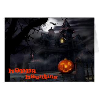Gelukkige het Achtervolgen Halloween Kaart