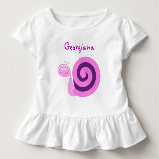 Gelukkige het Glimlachen Roze & Paarse Slak; De Kinder Shirts