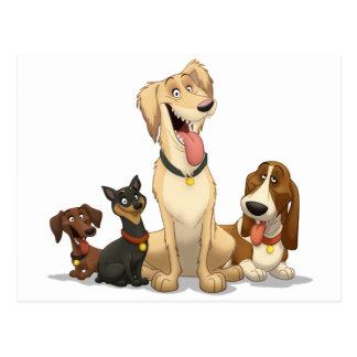 Gelukkige Honden Briefkaart