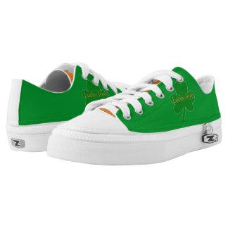 Gelukkige Ierse Groene Witte Oranje Lage Hoogste