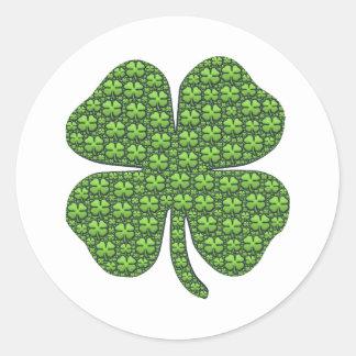 Gelukkige Ierse Klaver om Sticker