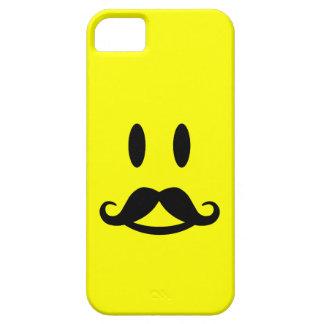 Gelukkige iPhone 5 van Smiley van de Snor hoesje-p Barely There iPhone 5 Hoesje