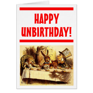 Gelukkige Kaart Unbirthday