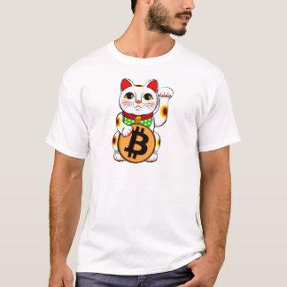 Gelukkige Kat 01 van Maneki Neko van Bitcoin T Shirt