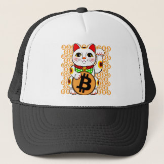 Gelukkige Kat 04 van Maneki Neko van Bitcoin Trucker Pet