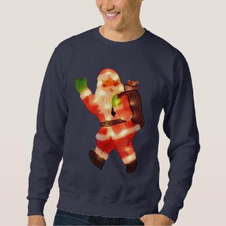 Gelukkige Kerstman met de Lichten van Kerstmis Trui