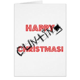 Gelukkige Kerstmis Cunting Kaart