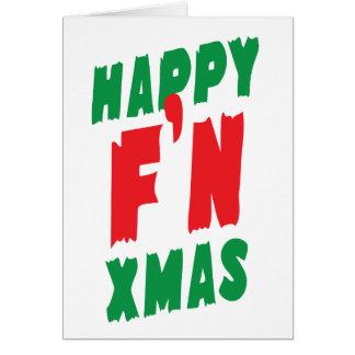 Gelukkige Kerstmis F'N Briefkaarten 0