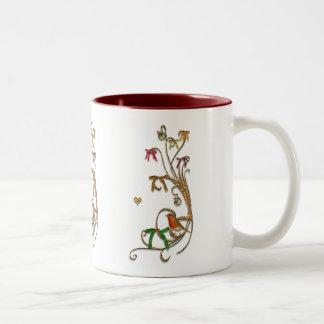Gelukkige Kerstmis Tweekleurige Koffiemok